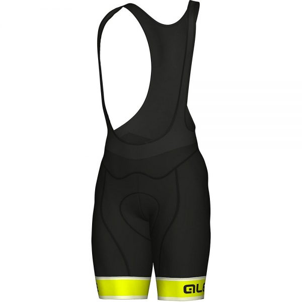 Alé Graphics PRR Sella Bib Shorts - M - Black-Yellow, Black-Yellow