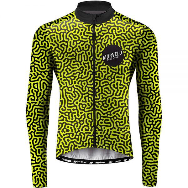 Morvelo Bacta Long Sleeve Jersey - L - Yellow-Black, Yellow-Black