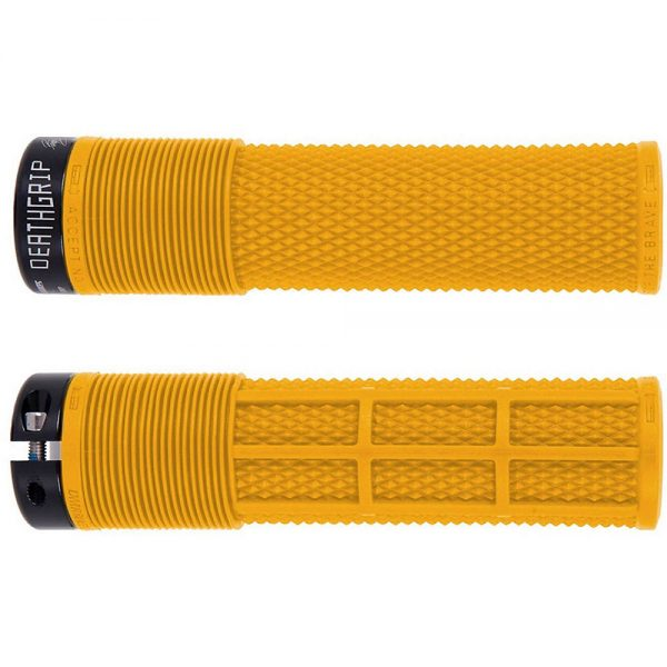 DMR Brendog Death Grip MTB Grips - 135mm - Gul Yellow, Gul Yellow