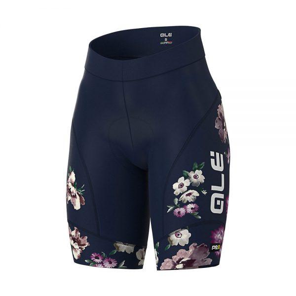 Alé Women's Graphics PRR Fiori Shorts - XS - Navy Blue, Navy Blue