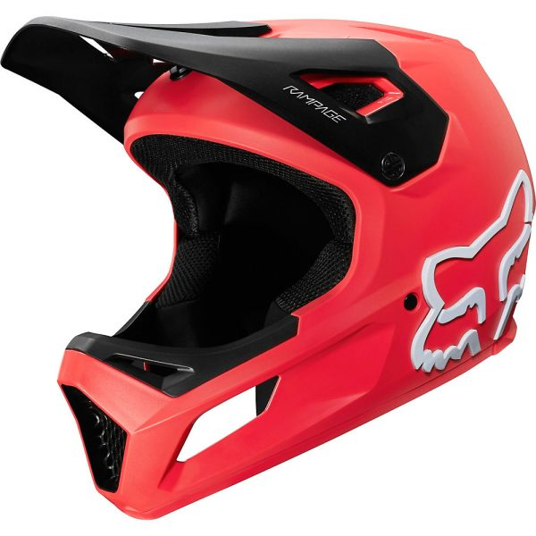 Fox Racing Youth Rampage MTB Helmet - S - Bright Red, Bright Red