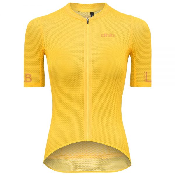 dhb Aeron Lab Womens Ultralight SS Jersey - UK 12 - Yellow, Yellow
