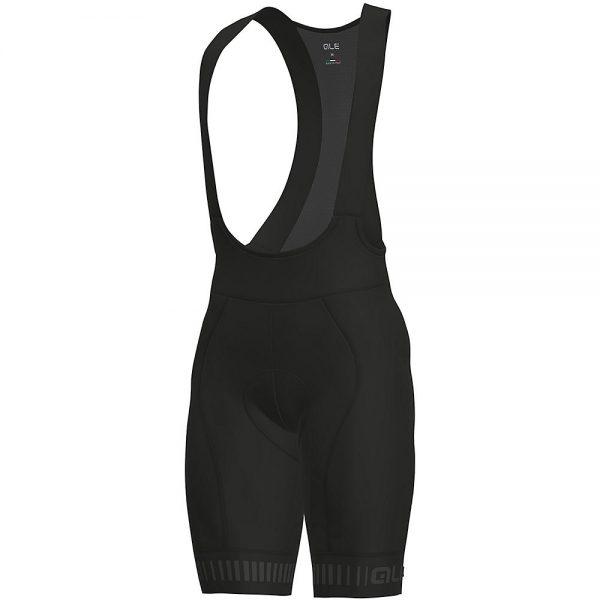 Alé Graphics PRR Strada Bib Shorts - L - Black-Grey, Black-Grey