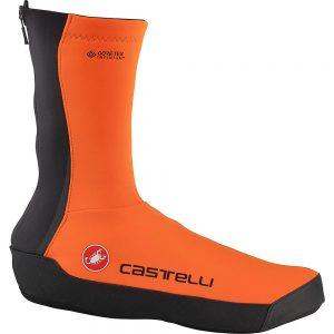 Castelli Intenso UL Shoecovers Overshoes - M - Orange, Orange
