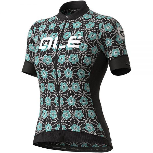 Alé Women's PRS Garda Jersey - L - Black-Turquoise, Black-Turquoise