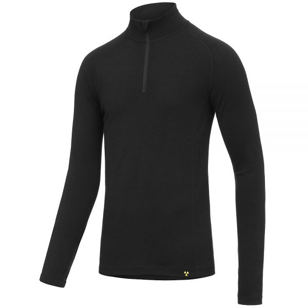 Nukeproof Merino Long Sleeve 1-4 Zip Baselayer - XS - Black, Black