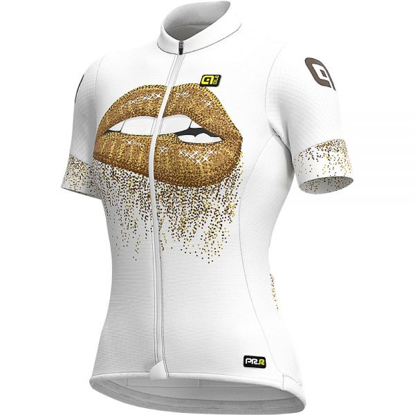 Alé Women's Graphics PRR Lips Summer Jersey - XXL - White-Gold, White-Gold