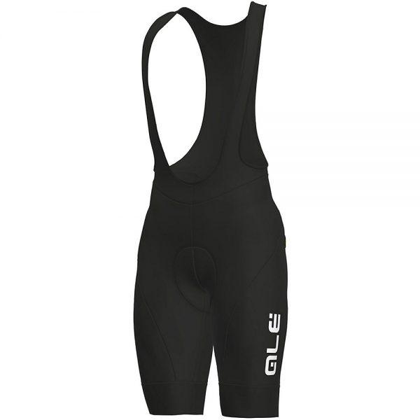 Alé Solid Winter Bib Shorts - XXXL - Black White, Black White