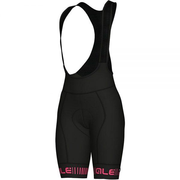 Alé Women's PRR Strada Bib Shorts - XS - BLACK-PINK, BLACK-PINK