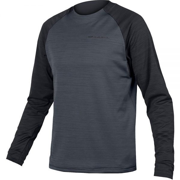 Endura Singletrack Fleece MTB Jersey 2020 - M - Black, Black