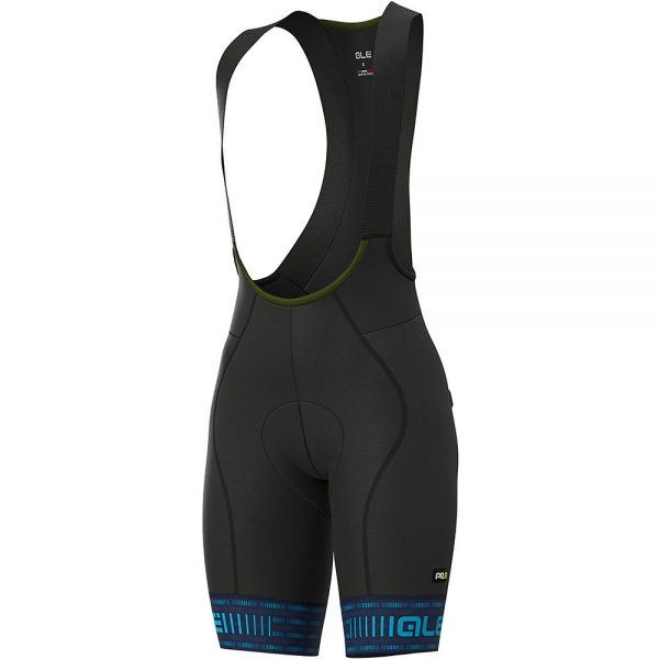 Alé Women's Graphics Green Road Bib Shorts - L - Blue-Light Blue, Blue-Light Blue