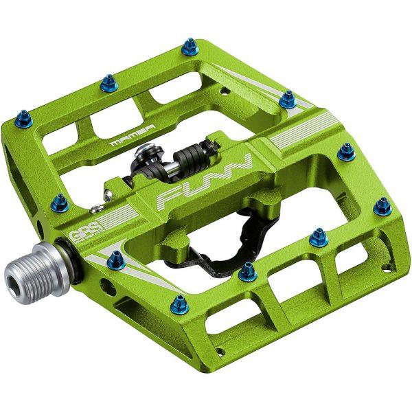 Funn Mamba One Side Clip MTB Pedals - Green, Green