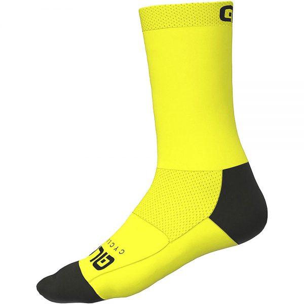 Alé Team Socks - L - Fluiro Yellow, Fluiro Yellow