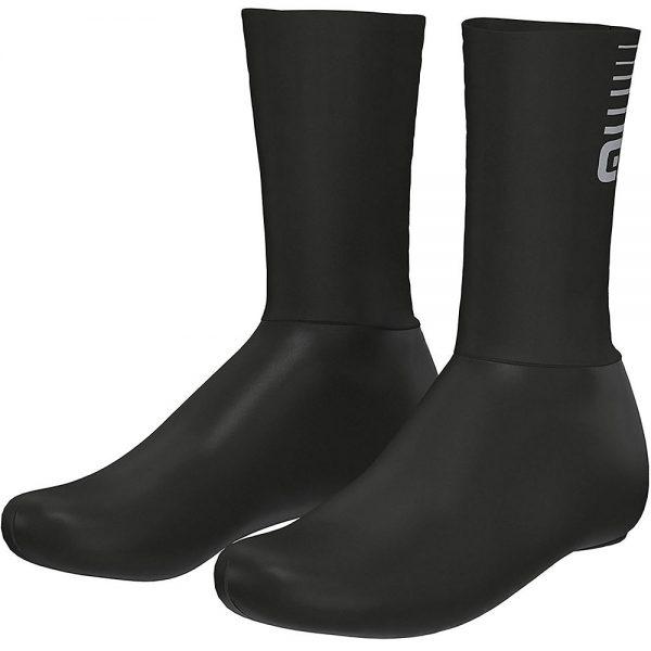 Alé Whizzy Overshoes - M - Black-Grey, Black-Grey