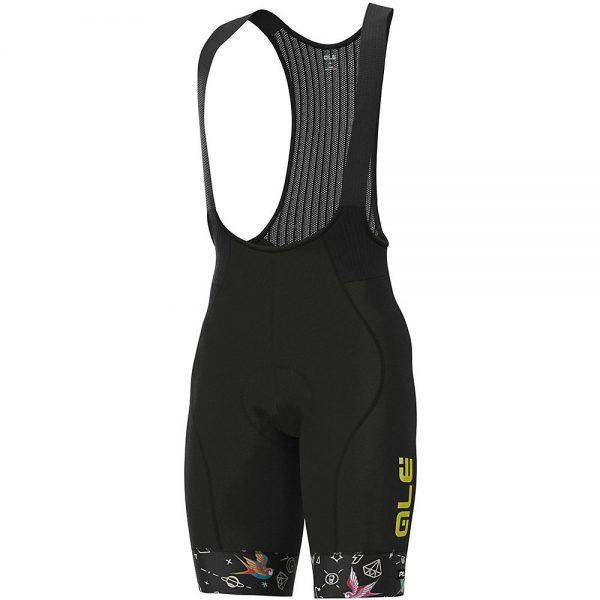Alé Graphics PRR Versilia Bib Shorts - S - Black, Black