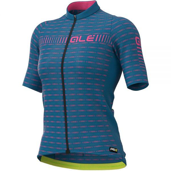 Alé Women's PRR Green Road Jersey - XL - Azzure Blue- Fluro Pink, Azzure Blue- Fluro Pink