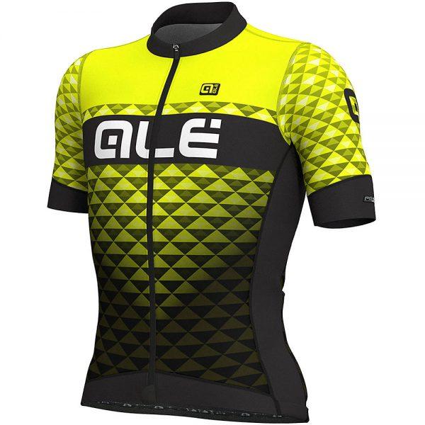 Alé PRS MC Hexa Jersey - S - Black-Fluro Yellow, Black-Fluro Yellow