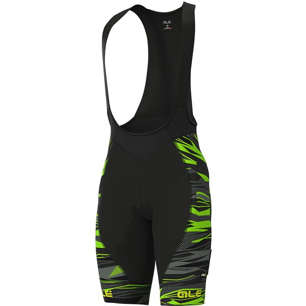 Alé Graphics PRR Rock Bib Shorts - XXXL - Black-Fluro Green, Black-Fluro Green