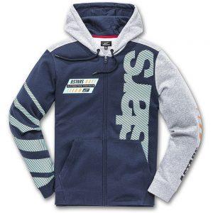 Alpinestars Fan Club Fleece Hoodie - XXL - navy-grey, navy-grey