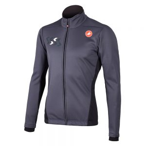 Castelli Velocissimo ROS Jacket - M - Anthracite, Anthracite