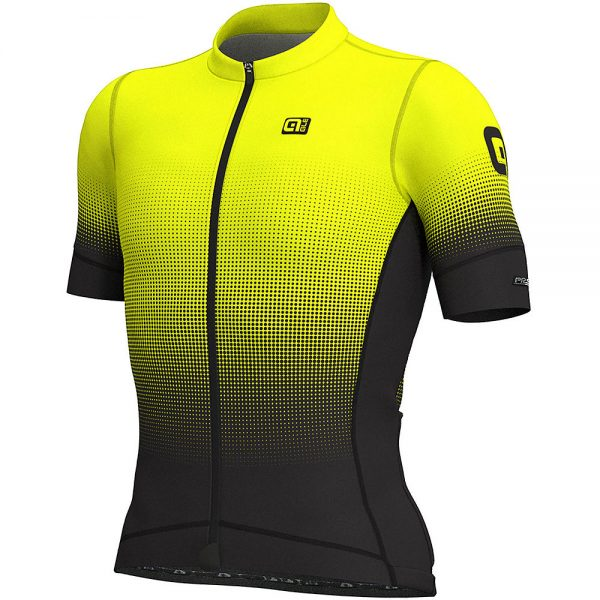 Alé PRS MC Dots Jersey - XXL - Black-Fluro Yellow, Black-Fluro Yellow