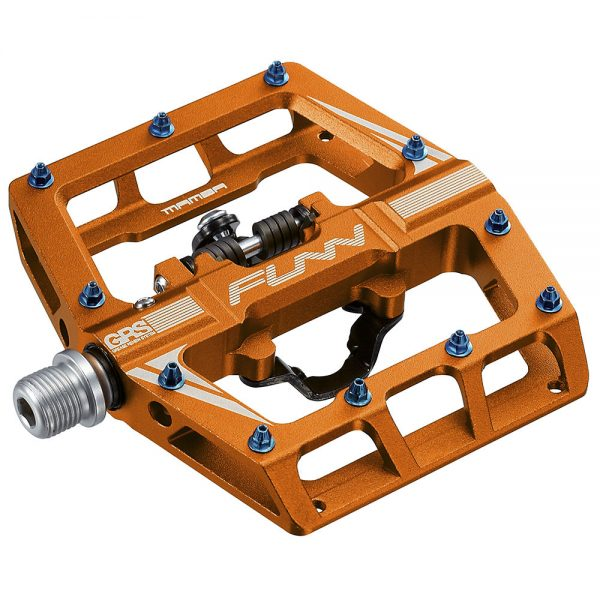 Funn Mamba One Side Clip MTB Pedals - Orange, Orange