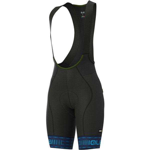 Alé Women's Graphics Green Road Bib Shorts - XS - Blue-Light Blue, Blue-Light Blue
