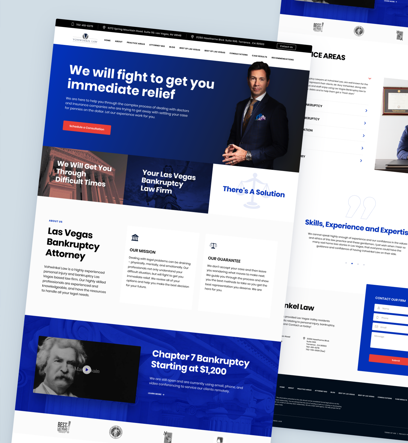 Lawyer services landing page