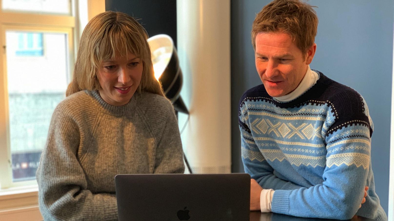 Marianne Rosenlund Hegg og Jørgen Heisholt Gundersen.