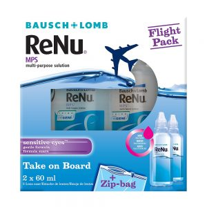 ReNu Multi-Purpose Solution Flight Pack, 2 x 60 ml