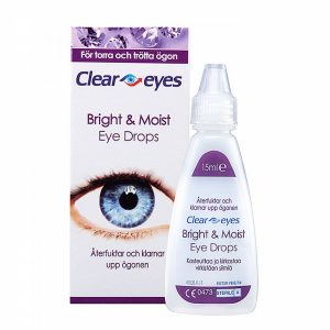 Clear Eyes Bright & Moist, 15 ml