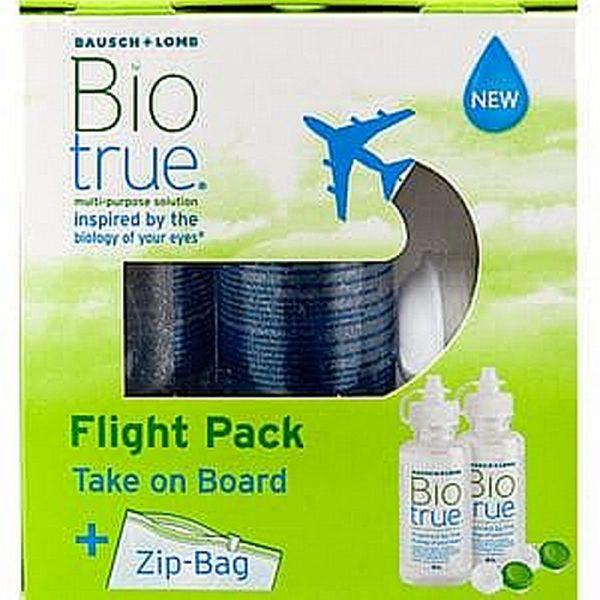 Biotrue Multi-Purpose Solution Flight pack, 2 x 60 ml