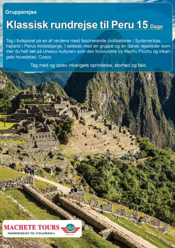 Grupperejse Til Peru Inkl Fly Machete Tours