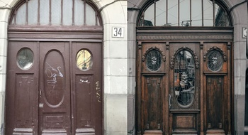 A mini-film about the restoration of historic gates was shot in Lviv, one of which is located on Knyazya Romana Street.