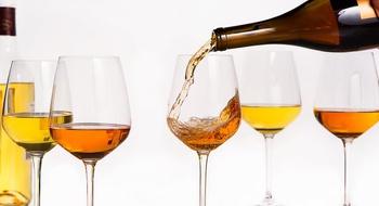 Orange wines at Valentino restaurant