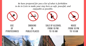 Behavior rules and restrictions that exist in Lviv
