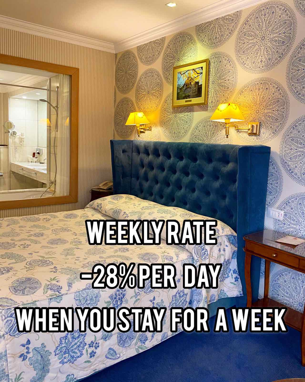 Save up to 28% per night  *WEEKLY RATE