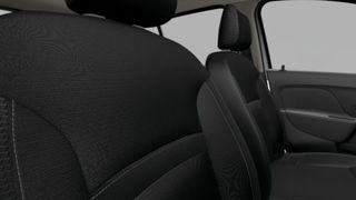 Juodos spalvos tekstiliniai sėdynių apmušalai