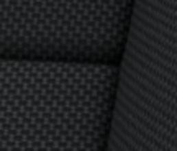 Musta värvi, kunstnahaga kombineeritud, tekstiili-veluuriga istmekatted