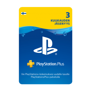 PSN Plus Card 3m Subscription FI (PS3/PS4/Vita)