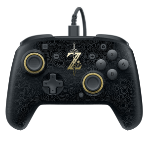 Switch Breath of Wild Faceoff Deluxe Wired Pro Controller