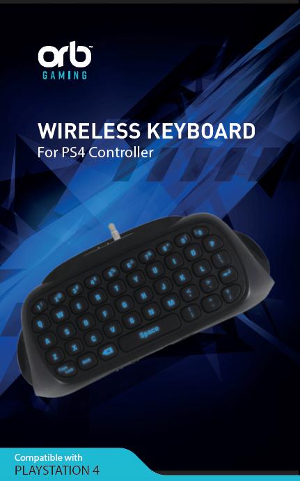 Playstation 4 Controller Keyboard Blue Blacklit
