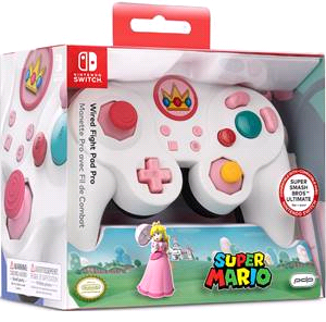 Switch Smash Pad Pro Peach wired Controller