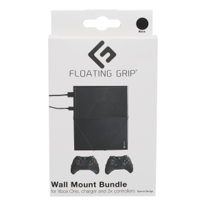 Floating Grip Xbox One and Controller Wall Mounts - Bundle (Black)