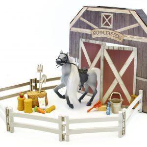 Royal Breeds - Barn Buddies Playset - White Horse