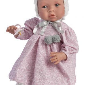 Asi dolls - Leonora baby doll, rose flower print dress (46 cm)