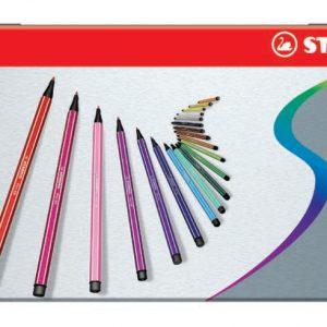 Stabilo - Pen 68 - Metal box of 10 Colours