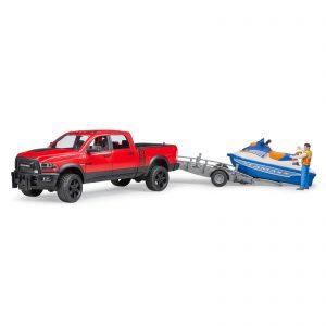 Bruder - RAM 2500 Power Wagon+trailer & Water Craft&driver (BR2503)