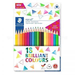 Staedtler - Coloured pencil ergosoft 18 pcs FSC 100% (157 C18P1)