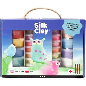 Silk Clay® Set -silkkimassasetti, 1 set, värilajitelma